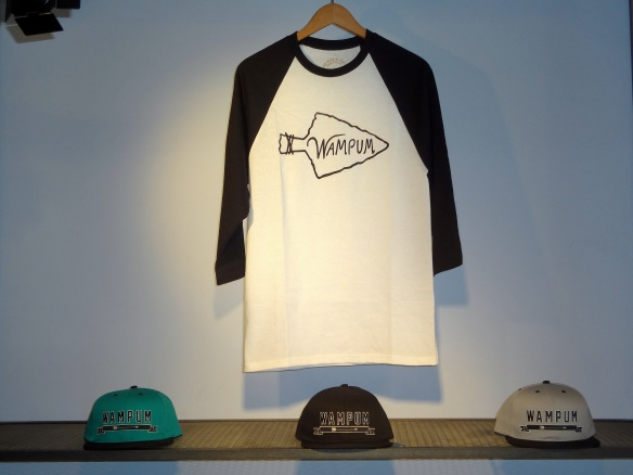 Wampum Baseball tee and Arrow Snapbacks